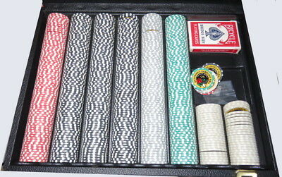 Dillinger's Gambling Hall Collectible Poker Chip Collection With Case 500 Chips