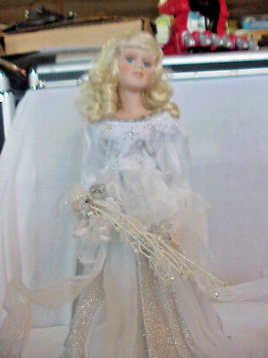 """Fiber Opticn Angel Tree Top Or Table  Top  Night Lightapprox. 18"""" Tall Electric"""