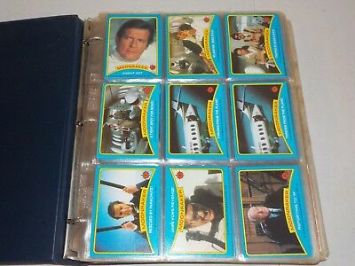 Non Sports Lot of 6 Complete Sets in Binder w/ Moonraker, Kellogg's Presidents P