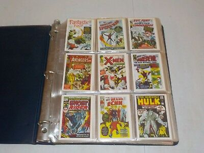 Lot of 6 Complete Sets in Binder w/ Masters, 1984 Marvel, MASH, 1967 India, Q