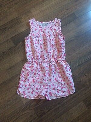 Girls Next Pink Floral Playsuit Jumpsuit   5-6 Years