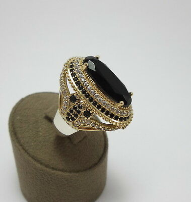 Sterling 925 Silver Handcraft Turkish Jewelry Black Onyx Gemstone Ladies Ring