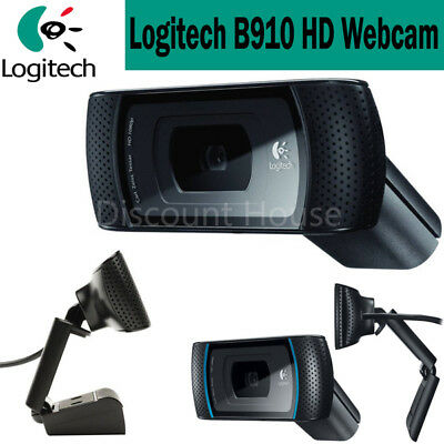Genuine Logitech B910 HD Webcam with Carl Zeiss Lens C910 Built in Microphone