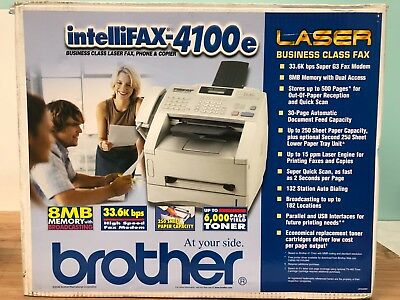 Brother IntelliFax 4100e Business Class Laser Fax Phone Copier