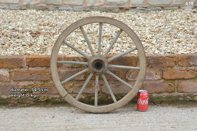Vintage old wooden cart wagon wheel  / 54.5 cm / 5 kilo - FREE DELIVERY