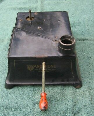 Antique Garford Mfg VANOPHONE The Lion of the Hour Phonograph~Black Cast Iron a