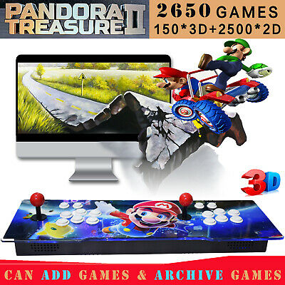 2200 in 1 Pandora Treasure 3D Arcade Console Machine Retro Video Game Mario HDMI
