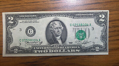 1976 $2 Dollar Error Serial Numbers and Seal Off Center