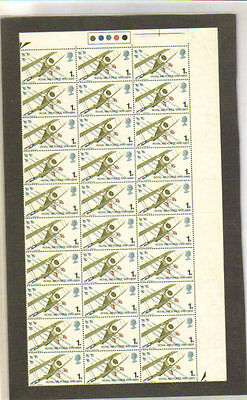 GB BRITISH RAF ROYAL AIR FORCE 1968 FULL SHEET 120 MNH STAMPS 1s.COLLECTION