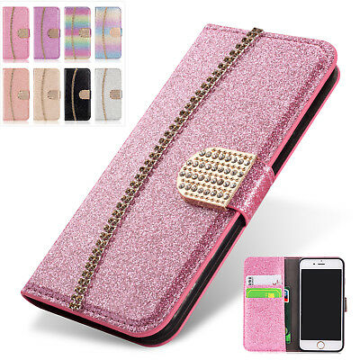 Luxury Leather Glitter Wallet Magnetic Flip Case Cover For iPhone XS Max/XR/XS/X