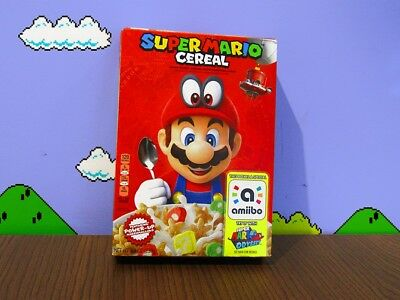 Super Mario Odyssey Cereal Limited Edition Nintendo Amiibo 8.4 OZ FREE SHIPPING