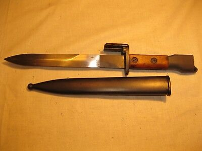 Vintage Belgium F.N. FAL M1953 Bayonet w/ Metal Scabbard- Excellent Condition
