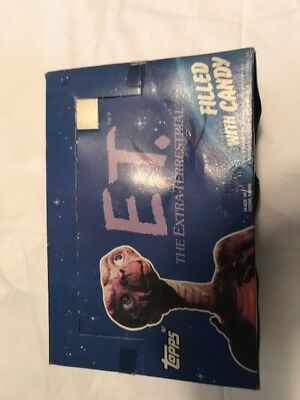 Topps Et 1982 Universal Studios Figural Head Candy Box Container Full Box Of 24