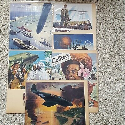 Original Vintage WWII Ad's and Magazine Posters Lot