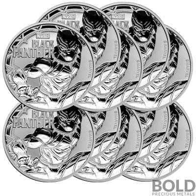 2018 Silver 1 oz Tuvalu Black Panther (10 Coins)