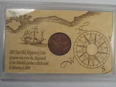 1808 East Indies Co. X Cash Admiral Gardner Shipwreck Coin.  #21