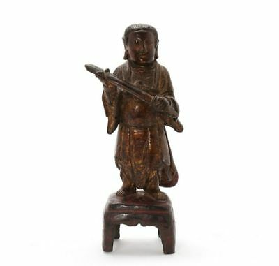 *sc*rare Chinese Bronze Guardian Figure, Ming Dynasty 1368-1644