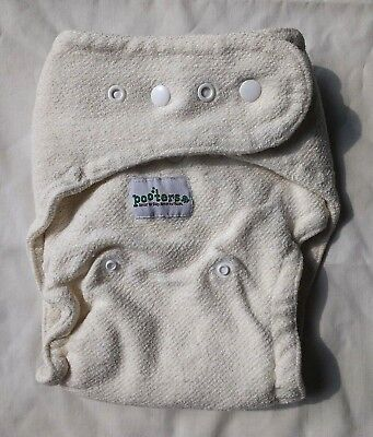 Pooters Hemp Organic Cotton Fitted Cloth Diaper Overnight 2 Inserts