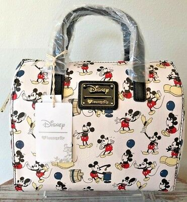 Loungefly - Disney MICKEY MOUSE Pose ~ All Over Print Purse Duffle Style Bag c71b01afa5823