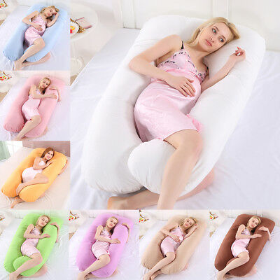 U Shape Body Bolster Maternity Pregnancy Support Pillow Cushion / Pillowcase