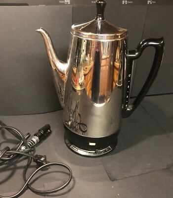 VINTAGE GENERAL ELECTRIC COFFEE PERC 10 Cup COMPLETE