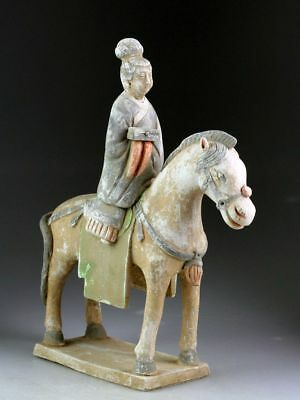 *sc*scarce Chinese Ming Dynasty Pottery Lady Horse Rider, 1368-1644!!