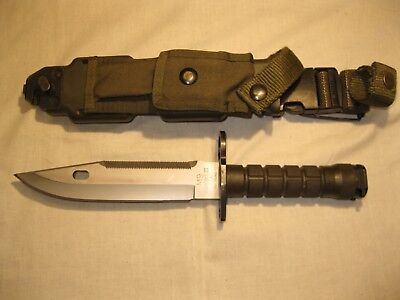 U.S. M9 Phrobis III Pat. Pend. Bayonet w/ Scabbard- Excellent Condition