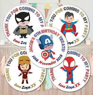 48 Personalised Birthday Stickers Labels Thanks For Coming To My Party Bag Seals