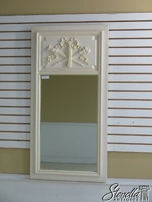 29054E: French Style Paint Decorated Torch & Ribbon Designer Mirror