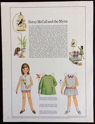 Vintage Betsy Mccall Vergrößerung Puppe, Betsy Mccall And The Myna, Juli 1967