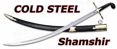Cold Steel Shamshir Sword + Leather/Wood Scabbard 88STS