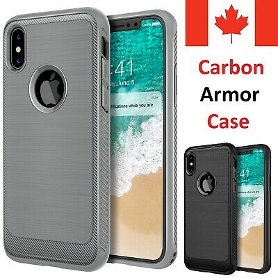 For iPhone Case - Shockproof Carbon Fiber Tough Armor Cover [All iPhone Model]