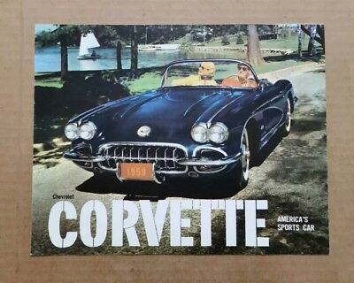 Chevrolet Corvette Sales Brochure,VINTAGE 1959