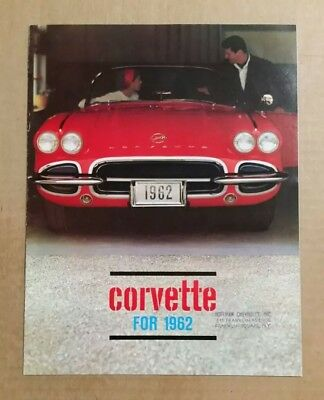 Chevrolet Corvette Sales Brochure,VINTAGE 1962