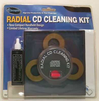 iConcepts Radial CD Cleaning Kit New PLS READ