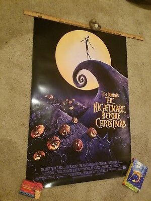1993 Nightmare Before Christmas S/s 27X40 Movie Poster