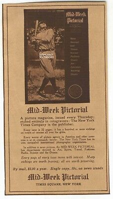 1923 Babe Ruth New York Yankee Sepia Advertisement NY Times Mid-Week Pictorial