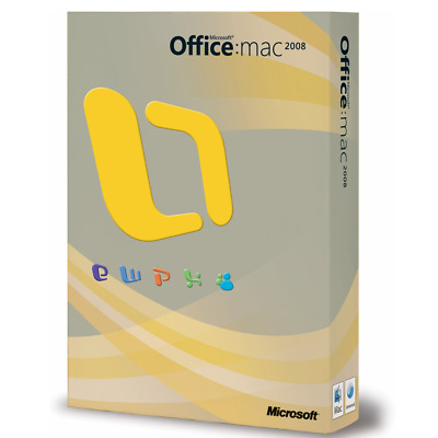 Retail Boxed Version - Microsoft Office 2008 MacOs Mac DVD