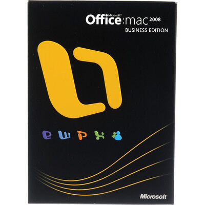 Retail Boxed Version - Microsoft Office 2008 BUSINESS EDITION MacOs Mac DVD