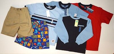 NWT LOT OF 6 SHORTS SHIRTS SWIM Boys GYMBOREE Boys Size 5  Navy Blue Red Tan NEW