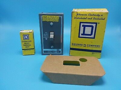 Square D  Manual Motor Starting Switch, 572A, CLASS 2510 and Overload Relay -NOS