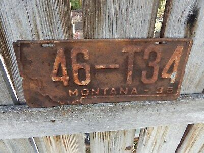 Montana Truck Plate From 1935 - Nice Wall Hanger!