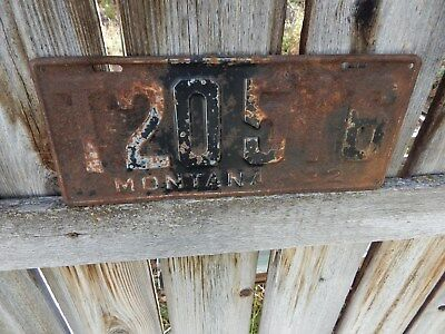 Montana 1932 Truck License Plate - Rare And Difficult To Find