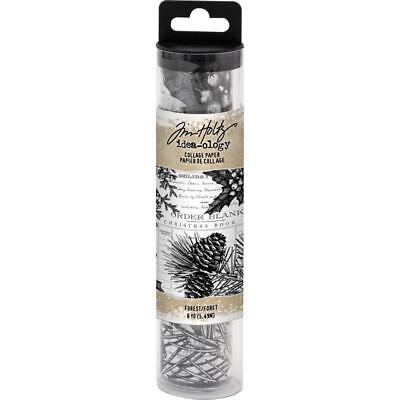 Tim Holtz idea-ology Collage Paper Forest Christmas