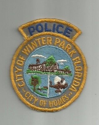 Winter Park Police (Florida) Uniform Take-Off Shoulder Patch from the 1970's
