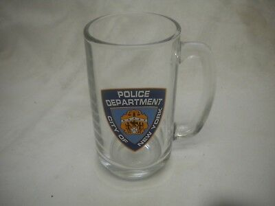 Police Department City of New York Beer Drinking Glass Mug