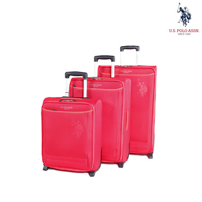 NEW US Polo Assn. 3-Pack Junior 2W Cabin Luggage PU Anti-Scratch Travel Bag