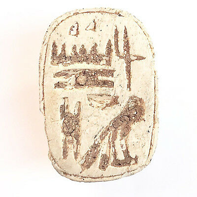 Ancient Egypt Scarab Seal circa 1100 BC 2cm 3gr BEAUTY VERY RARE!