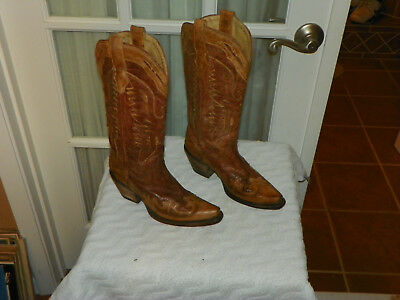 9203fcd439d CORRAL WOMEN'S 6 M Eagle Boot Western Antique Crackle Distressed Snip Toe  R2227