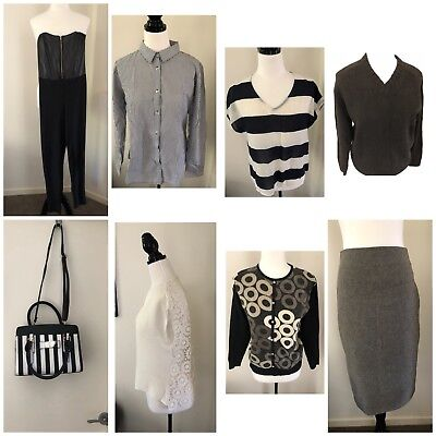 Womens Size 12 Bulk Lot Clothing and a Bag.